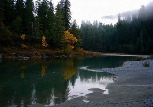 Salmon River in pacific northwest