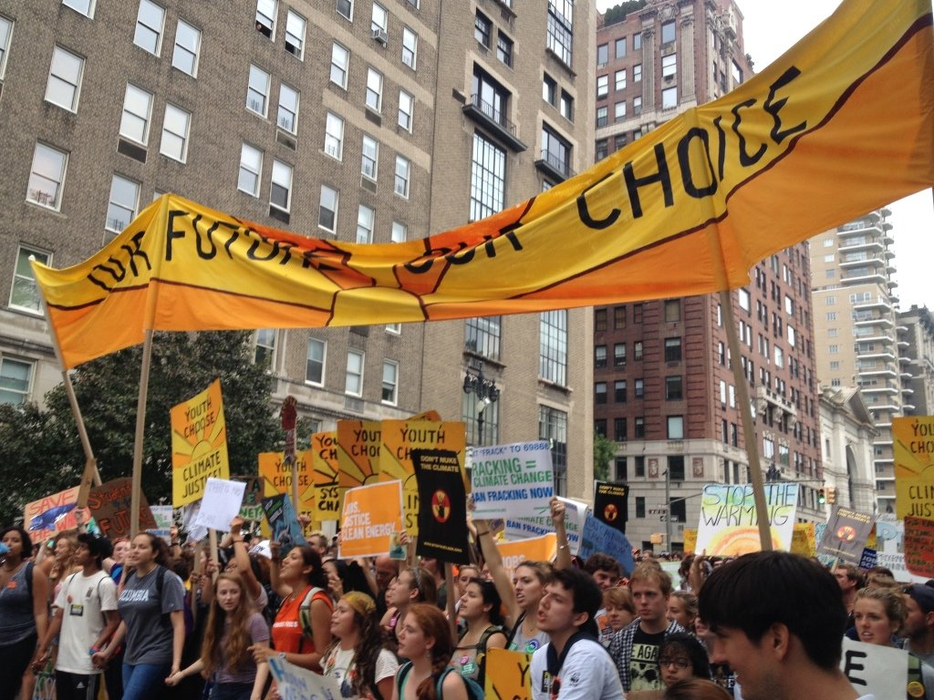 Youth Proclaiming, Our Future, Our Choice At The People's Climate March