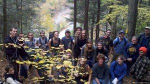 Extreme Energy Immersion participants on a hike in Loyalsock Park with members of the Shalefield Organizing Committee.