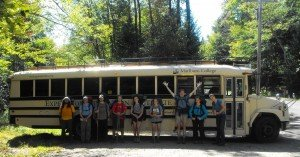 8: The group makes it back to the bus after seven nights in the backcountry.