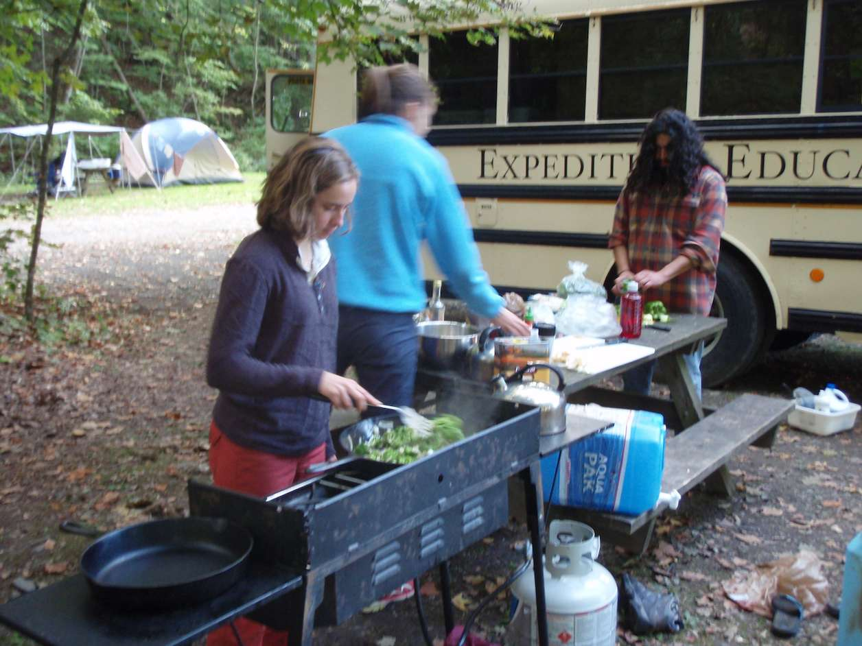 Preparing a meal for the community