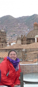 Taryn leading a trip in Cusco, Peru.