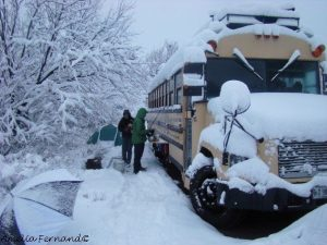 Bus in winter