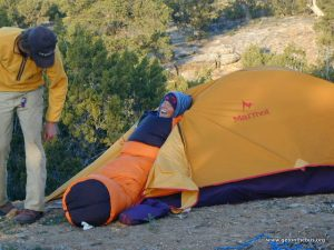 "Tents as ""dorm rooms"" on an expedition"